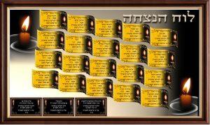לוח הנצחה דיגיטלי לבית כנסת